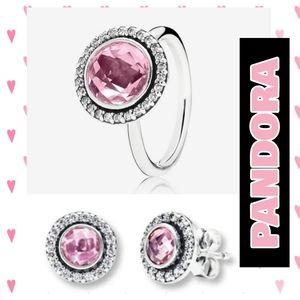 PANDORA Earrings & Ring SET » BEAUTIFUL «